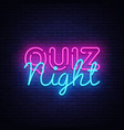 quiz night announcement poster design vector image vector image