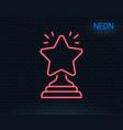 rank star line icon success reward vector image vector image