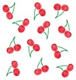 ripe cherry on a thin twig tree vector image vector image