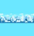 seamless arctic landscape icebergs snow vector image vector image