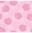 Seamless floral pink and white roses pattern vector image vector image