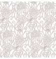 Seamless hand drawn pattern with flowers vector image vector image