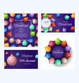 set christmas square and horizontal promo vector image vector image