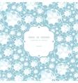 Shiny diamonds frame seamless pattern background vector image