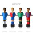 Table football foosball players Group E vector image vector image