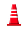 traffic safety rubber road cone vector image vector image
