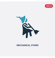 two color mechanical stairs icon from people vector image vector image