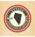 vintage label-sticker cards nevada vector image