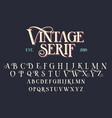 vintage serif lettering font vector image vector image