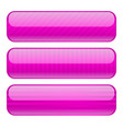 violet oval buttons blank icons with stripe vector image vector image