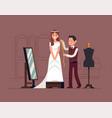 wedding dress tayloring vector image