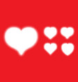 white heart halftone dots logo set love insignia vector image vector image