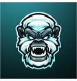 yeti head mascot logo design vector image vector image