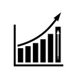 infographic chart icon vector image