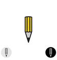 Simple pencil icon Black stroke style vector image