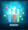 background with test-tubes vector image