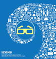 3d glasses icon Nice set of beautiful icons vector image