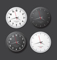 a set of watches white and black layout for vector image