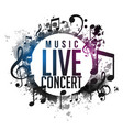 abstract grunge music live concert poster design vector image vector image