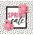 abstract spring sale poster with paper cut vector image vector image