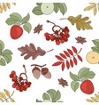 apple landscape nature seamless pattern ill vector image vector image