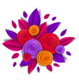 autumn flowers and leaves beautiful design in vector image vector image