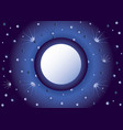 background with the night sky vector image vector image