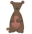 bear cartoon character vector image vector image