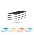 books icon isolated on white background vector image