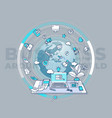 business around world - detailed vector image
