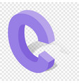 c letter in isometric 3d style with shadow vector image