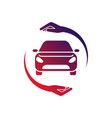 car logo with circle hand colorful logo vector image vector image
