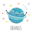 cartoon uranus planet vector image