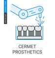 cermet dental prosthetics icon vector image