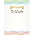 Certificate template vector image vector image