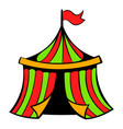 circus tent icon icon cartoon vector image vector image