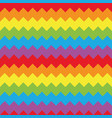 colorful seamless chevron pattern flat vector image vector image