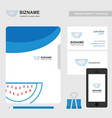 company ad banner design and card with blue theme vector image
