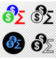 composition of gradiented dotted dollar sum and vector image vector image