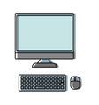 computer desktop icon image vector image vector image