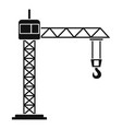 construction crane icon simple style vector image