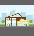 contemporary building facade urban landscape vector image vector image