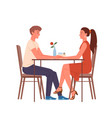 couple people meet on date happy loving pair of vector image