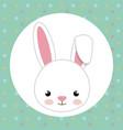 cute rabbit head tender character vector image vector image