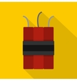 Dynamite explosives icon flat style vector image vector image
