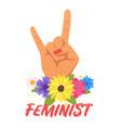 feminist slogan for apparel design vector image vector image