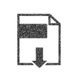 file download sign black icon from many vector image vector image