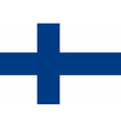 Flag of the Finland vector image vector image