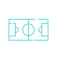 football field thin line icon soccer playing area vector image vector image