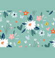 garden flower plants botanical seamless pattern vector image